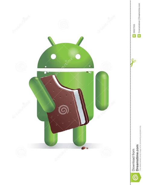 android icecream sandwich android sandwich editorial image image 26027555