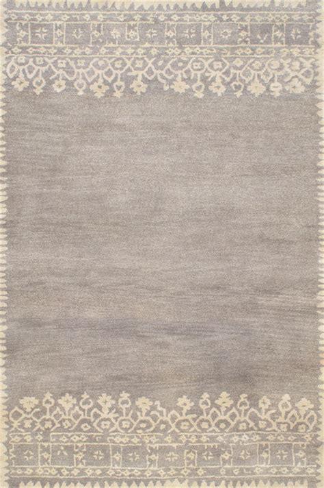 Modern Wool Area Rugs Rugsville Modern Desa Gray Wool Area Rug 11967 8x10 Contemporary Area Rugs By Rugsville