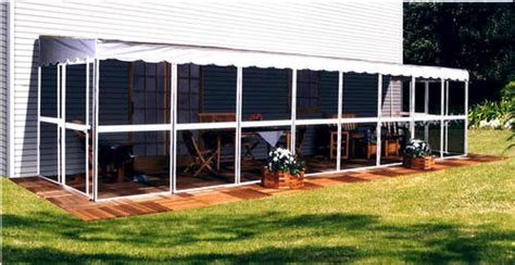 Patio Mate Accessories Patio Mate Screened Enclosure White Finish With Gray Roof