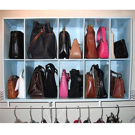 purse closet organizer park a purse closet organizer with 10 cubbies hsn