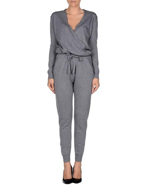 Jumpsuit Greya stefanel jumpsuit in gray grey lyst