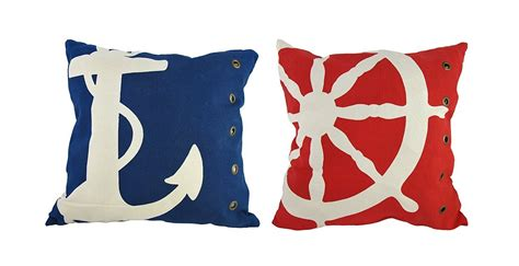 Nautical Toss Pillows by Nautical Bedroom Decor Webnuggetz