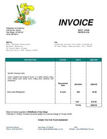 cleaning services invoice sample invoice template ideas