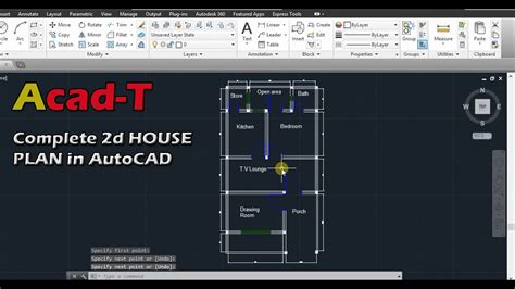 autocad tutorial house plan how to create complete 2d house plan in autocad site plan