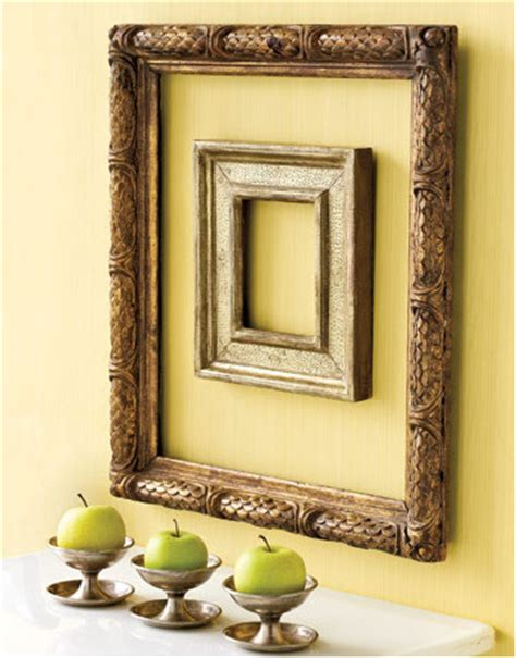 Unique Frames And Decor by Decorating With Empty Picture Frames