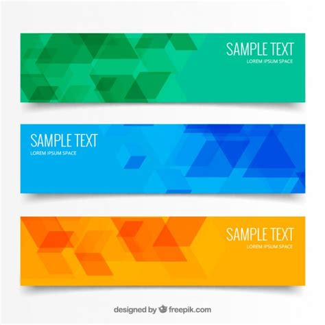 abstract design banners vector free download abstract geometric triangular banners vector free download