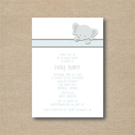 printable elephant invitations little elephant baby shower invitations printable 15