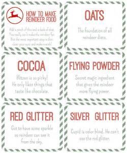 Reindeer food printable tags free printables the