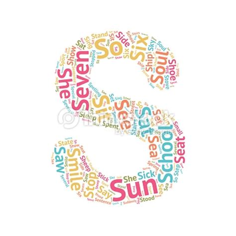 words that start with the letter a cute word cloud abc letters s vector art thinkstock 1735