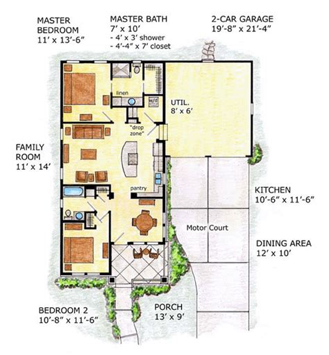 bungalow floor plans with attached garage bungalow house plans with attached garage country house