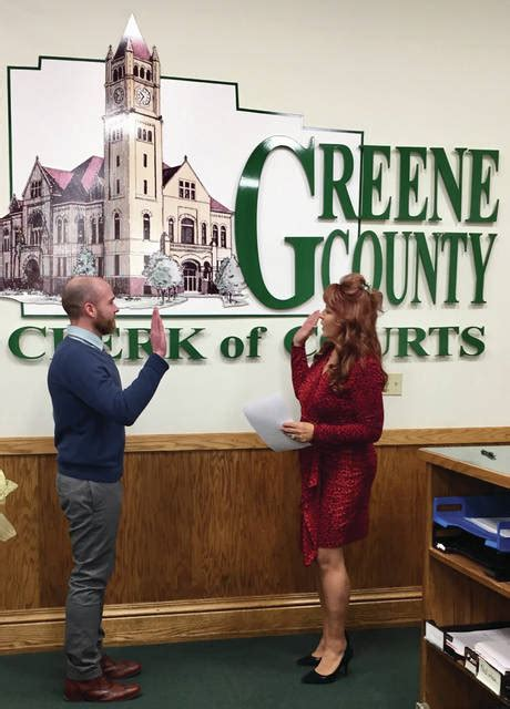 Greene County Clerk Of Courts Search Clerk Of Courts Appointed Takes Office Xenia Gazette