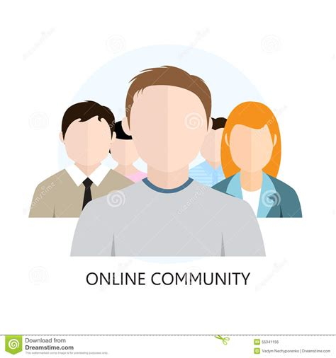 design online community online community icon flat design stock vector image
