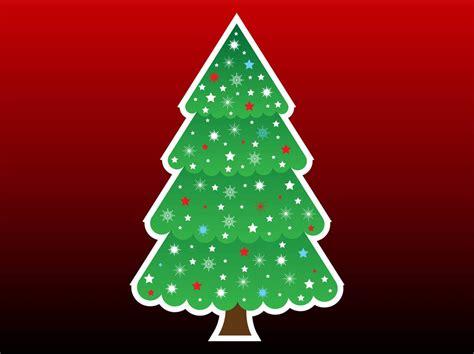 christmas tree cartoon vector art graphics freevector com