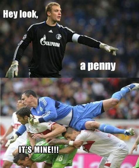 Facebook Soccer Memes - 1 oh look a penny soccer players dump a day