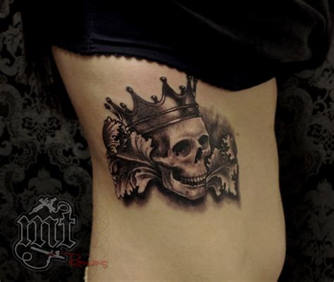skull with crown tattoo trueartists ramas