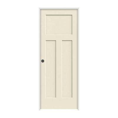 home depot prehung interior door jeld wen craftsman smooth 3 panel primed molded prehung