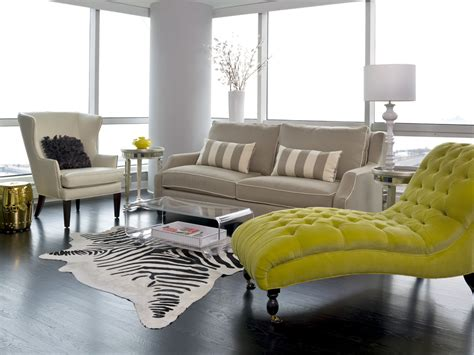 living room lounge sofa with chaise living room modern with cowhide rug