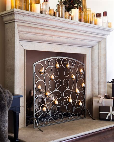 Candle Fireplace Inserts by Candle Displays For Fireplaces 12 Lovely Designs And Ideas