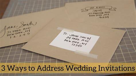 do you write addresses on wedding invitations 3 ways to address wedding invitations