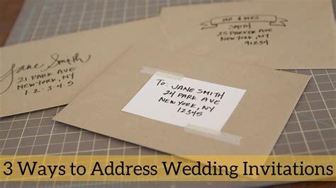 3 Ways to Address Wedding Invitations   YouTube