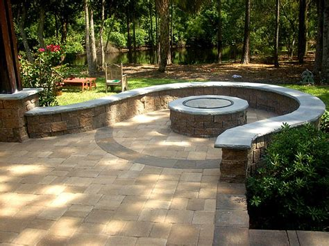 Hardscape Package 3 Brick Paver Patio Pergola Firepit Paver Patio Designs With Pit