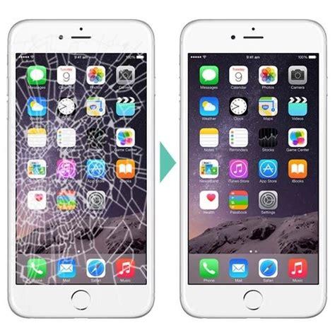 apple iphone  lcd digitizer cracked broken screen