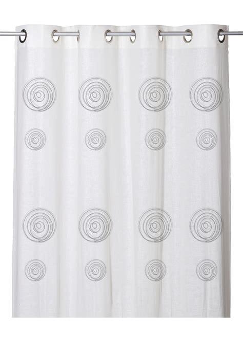 Voilage Etamine Blanc by Voilage Effet Etamine De 224 Imprim 233 S Spirales Blanc