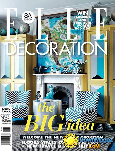 home decor magazines south africa elle decoration south africa april may 2014 187 download