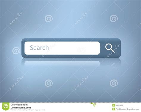 Search On Web Vector Illustration Of Web Search Bar On Blue Background Stock Vector Image 48844850