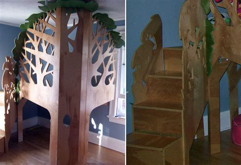 6 Amazing Treehouse Beds That Bring Magic To Bedtime Tree House Bunk Bed Plans