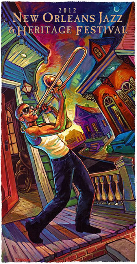 country music festival 2012 new orleans 2012 new orleans jazz fest poster of trombone shorty is a