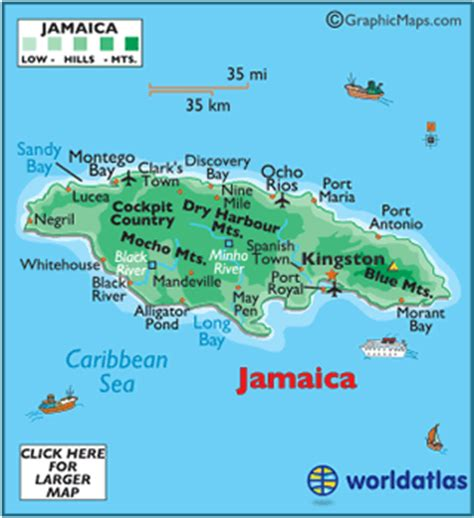 jamaica map map of jamaica from caribbean on line jamaica map geography of jamaica map of jamaica