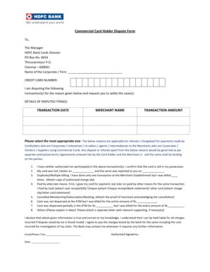 Dispute Form Hdfc Bank hdfc credit card dispute form chennai infocard co