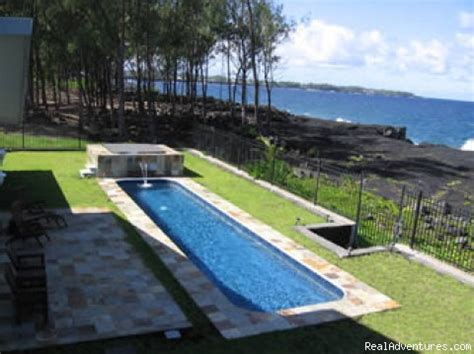 how big is a lap pool hale mar luxury oceanfront home w pool hot tub keaau
