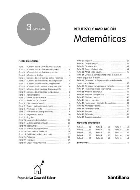 3º prim matematicas refuerzo y ampliacion santillana by