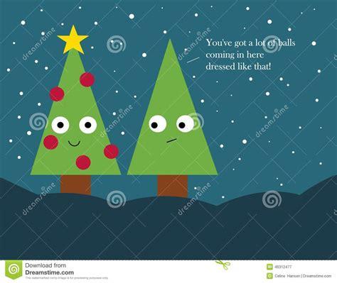 christmas card decorated christmas trees stock