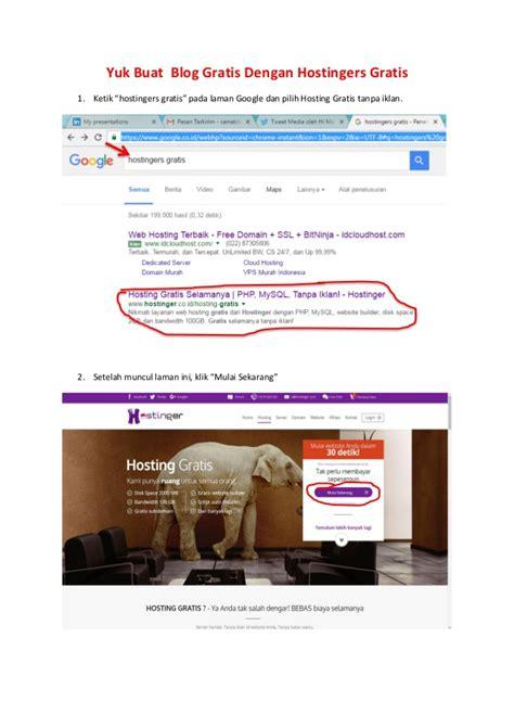 link membuat blog gratis langkah langkah membuat blog menggunakan hostingers gratis