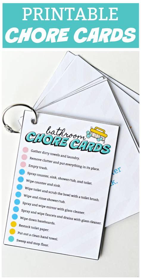 Printable Chore Cards