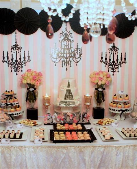 party themes vintage vintage parisian bridal wedding shower party ideas