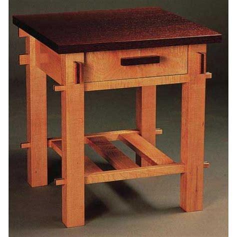 craftsman woodworking woodworker s journal craftsman end table plan rockler