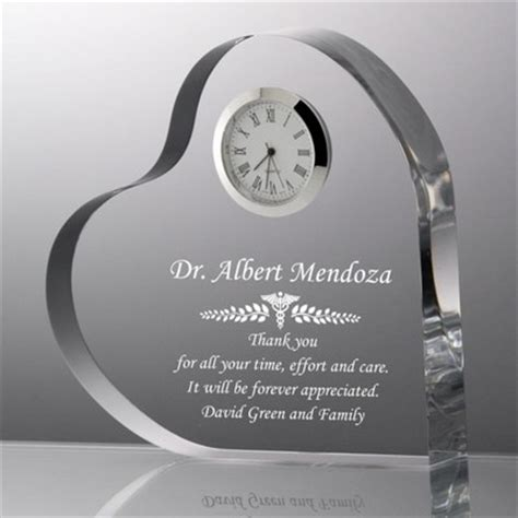 Silver Car Name Ideas by Personalized Doctor Thank You Plaque