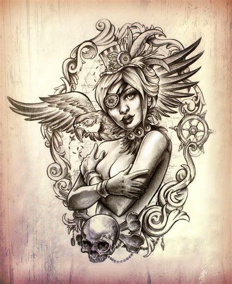 pirate pin up tattoo designs pirate design by illogan on deviantart