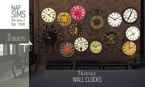 vintage wall clocks  nafsims teh sims