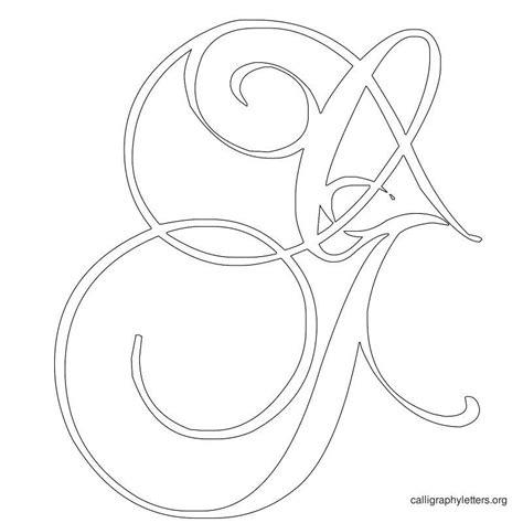 printable letter stencils script printable calligraphy letter stencils calligraphy
