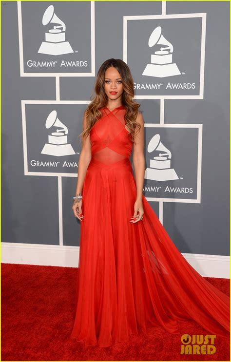Grammy Awards Rihanna by Rihanna Grammys 2013 Carpet Photo 2809307 2013