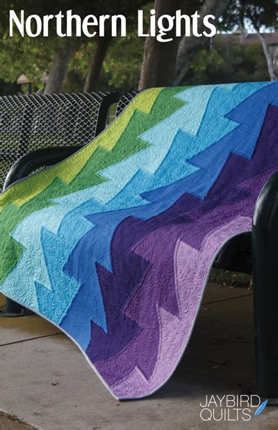 Northern Lights Quilt Pattern Free by Jaybird Quilts Sewing Pattern Northern Lights