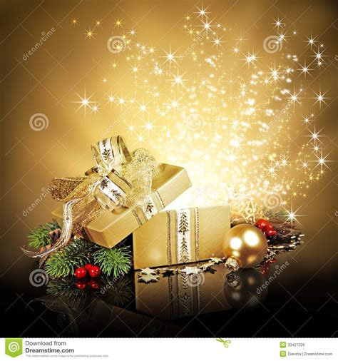 christmas surprise gift box stock photo image 33427226