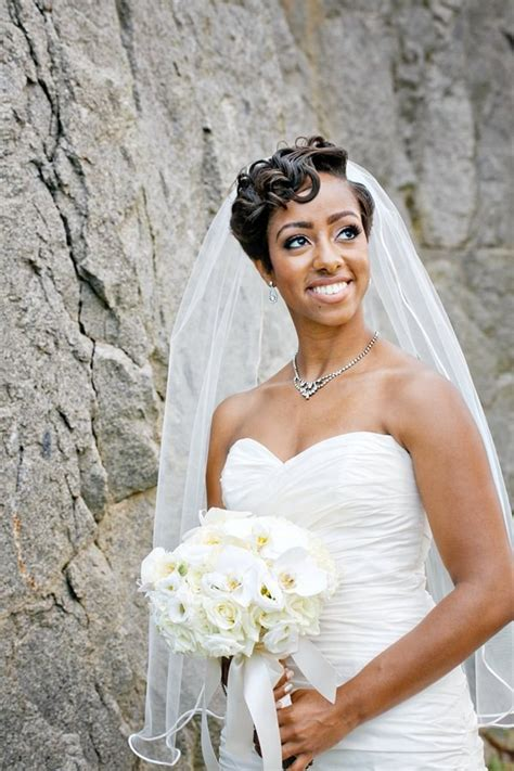 wedding hairstyles heart faces  black women