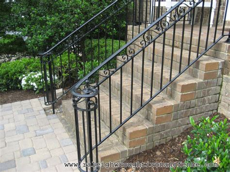 wrought iron front porch railings durham nc custom wrought iron railings raleigh wrought