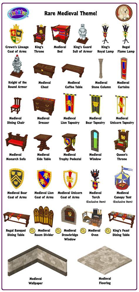 theme item list rare theme showcase medieval theme wkn webkinz newz